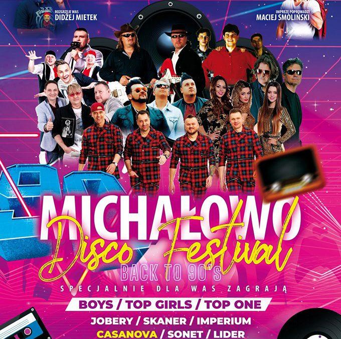 23.08.2019r.: Michałowo Disco Festival – Back to90's