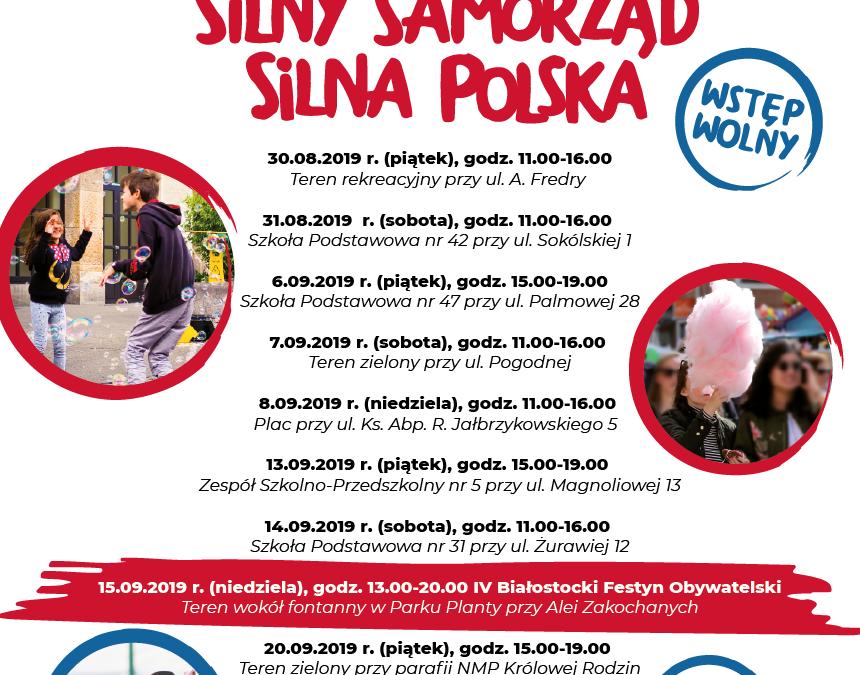 """30.08.-20.09.2019r.: Rodzinne festyny podhasłem: """"Silna Rodzina – Silny samorząd – Silna Polska"""""""
